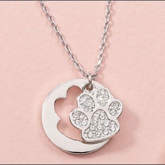 Swarovski Jewelry - Paws off Dog lover necklace Swarovski Touchstone